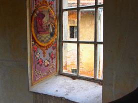 sogar die Fensterlaibungen sind detailliert bemalt