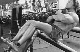 Рис.6 При таком расположении веса корпус остается прямым. Работает подвздошно-поясничная мышца.