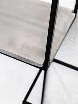 VOLO Beton modern minimalistisch Wandregal Deko Stahlgestell