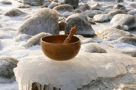 Gong, Klangschalen, Klangkonzert, Winter