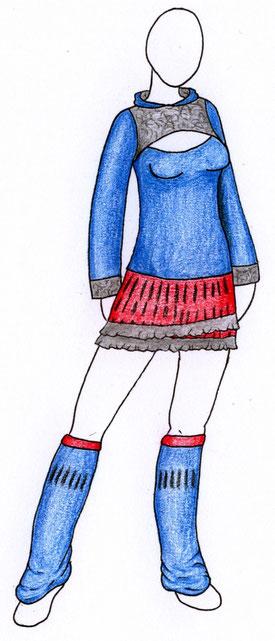 Zeichnung Outfit