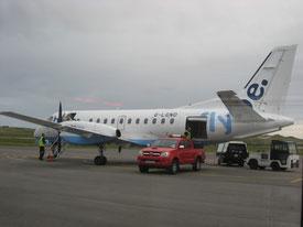 ドニゴール〜ダブリン間の、fly be.というかわいらしい飛行機(2013. 6月)