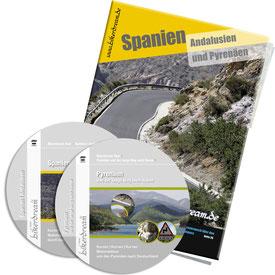 Motorradtour Andalusien und spanische Pyrenäen DVD gedruckte Tourstory und GPS Daten für die eigene Tourplanung mit dem Motorrad