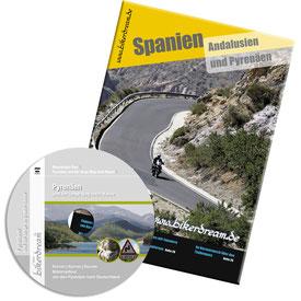 Motorradtour spanische Pyrenäen DVD gedruckte Tourstory und GPS Daten für die eigene Tourplanung mit dem Motorrad