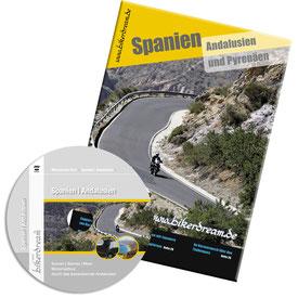 Motorradtour Andalusien DVD gedruckte Tourstory und GPS Daten für die eigene Tourplanung mit dem Motorrad