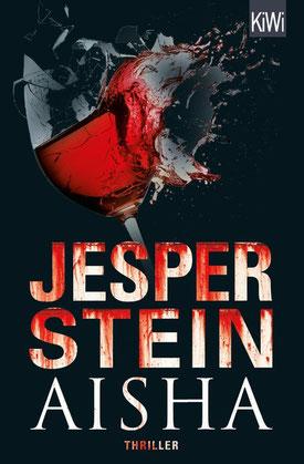 """Cover des Buches """"Aisha"""" von Jesper Stein, das die Rezension des Buches begleitet."""