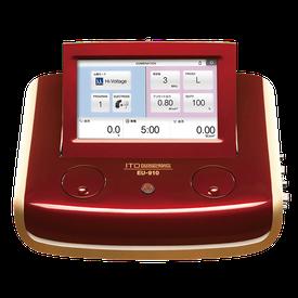 ハイボルテージ・超音波治療器のコンビネーション治療器。短時間でより効果の高い治療が実現します。