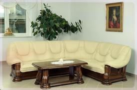 Шкіряний кутовий диван новий