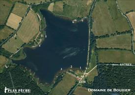 Plan des postes de pêche à la carpe domaine de Bouxier