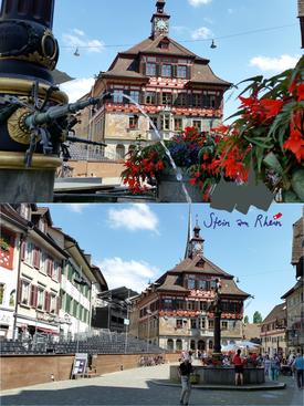 Rathaus am Rathausplatz u.Stadtbrunnen von 1601