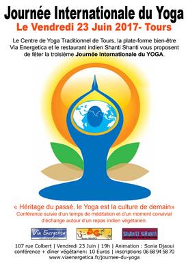 Célébration de la 3ème Journée Internationale du Yoga - Tours