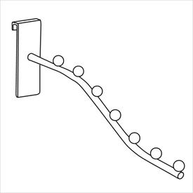 Кронштейн на сетку длиной 300 мм, хром