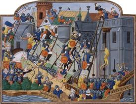 Eroberung von Konstantinopel im Jahr 1453 Miniatur