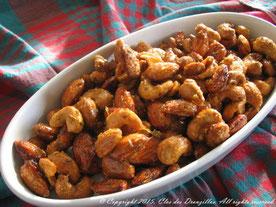 Amandes et noix de cajou salées-sucrées