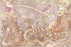 Stéphanie Sautenet - galerie béatrice soulié -art  shamanic - art psychopomp