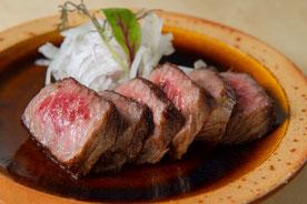 島根和牛のステーキ