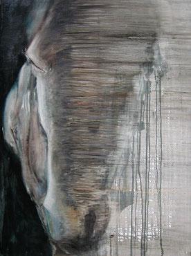 Kumpel, Öl auf Baumwollgewebe, 60 x 80 cm, 2006