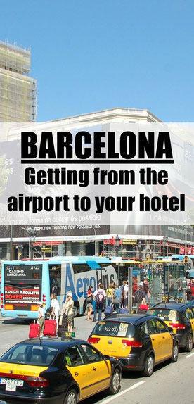Barcelona has several options to get from the airport to your hotel. Read more at www.babycantravel.com/blog.