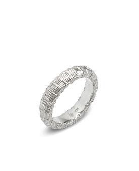 Silberring mit Geflecht Struktur