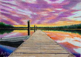 'Pier at Sunrise' by Blake 2014