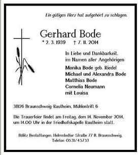 Unser Eisenbahnfreund Gerd Bode †