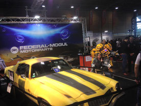 salon de l'auto , paris , transformers animation stand