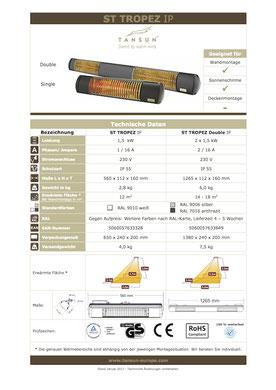 Datenblatt Infrarotheizung ST TROPEZ