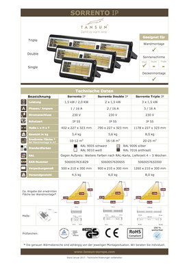 Datenblatt Infrarotheizung SORRENTO