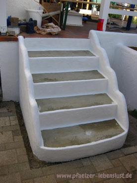 Treppe griechisch Garten