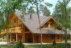 Blockhausbau  - Eindrucksvolles Blockbohlenhaus - Gästehaus bei Hannover - Große und kleine Blockhäuser - Wohnen - Hausbau - Holzbau - Holzhäuser -  Blockhaus Preise