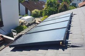 Solarthermie Aufdach Anlage von bern.solar - Alurahmenkollektoren