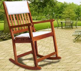 sedia dondolo +legno +garden