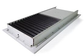 平型ジャバラ 取付例 ガイドレール 安全カバー ジャバラ カバー 保護
