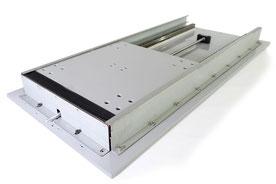 平型ジャバラ 取付例 ガイドレール 安全カバー カバー 保護