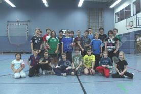 Gruppenbild der CBC-Jugend 2013 am Trainingstag in der SpH Küllenhahn