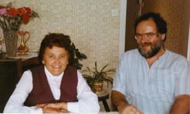 Avec Célie rentrée chez elle aux Vastres vers 1991