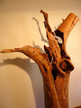 Holzkunst - Baumstamm - Stele - Exklusiv - Holz Design - Stehlampe Holz