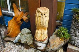 Holz kunst und Holzskulpturen