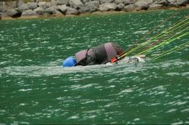 Les bases à connaître quand on fini à l'eau avec son parapente