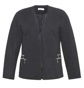 elegante Plus Size Jacke schwarz Gr 48