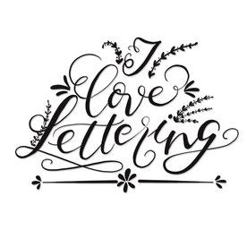 Handlettering, gezeichnete Buchstaben
