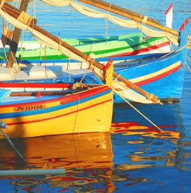 Fischerboote wie van Gogh sie gemalt hat