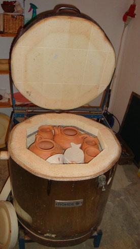 Keramik, Brennofen, Glasurbrand
