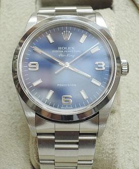 修理も順調に進めています。写真の時計はロレックスのエアキングの分解掃除(オーバーホール)でお預かりした時計です
