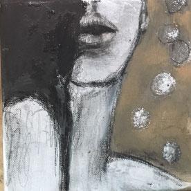 20x20 Acryl/ Pastell auf Leinwand