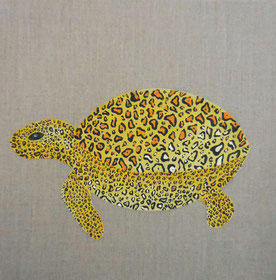 Tortue léopard, 2014, Acrylic on canvas, 30 x 30 cm, Private collection
