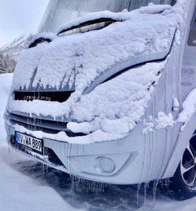 Winter Camping im vollintegrierten Wohnmobil Hymer ML-I 570