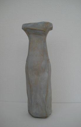 Auffallend schlicht, Ton bemalt, 24 cm, Vorderansicht