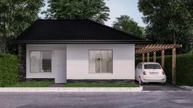 Carina Rossier Inmobiliaria vende casa a estrenar en Villa Elisa, Entre Ríos. Se vende casa a estrenar, 60 m² de superficie cubierta sobre un lote de 250 m².