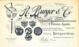 Briefkopf nach 1911 der Fa. R. Burger & Co.